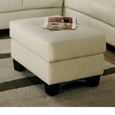 Priolo Lavish Leather Ottoman Upholstry: Cream