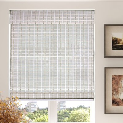 Autenberry Blinds Cordless Semi-Sheer Whitewash Roman Shade Blind Size: 25.5 W x 60 L