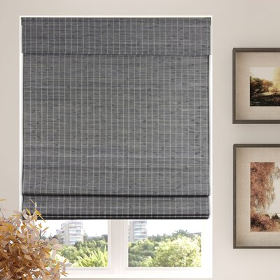 Autenberry Blinds Privacy Cordless Room Darkening Gray Roman Shade Blind Size: 37 W x 60 L