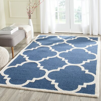 Charlenne H-Tufted Navy Area Rug Rug Size: Rectangle 5 x 8