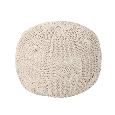 Mabie Knitted Pouf Upholstery: Beige
