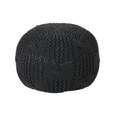 Mabie Knitted Pouf Upholstery: Dark Gray