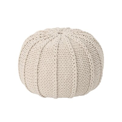 Maag Knitted Pouf Upholstery: Beige