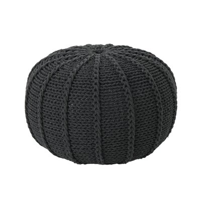 Maag Knitted Pouf Upholstery: Dark Gray