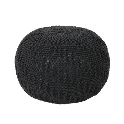 Macaulay Knitted Pouf Upholstery: Dark Gray