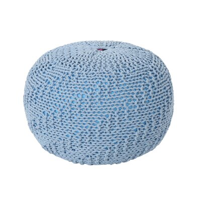 Macaulay Knitted Pouf Upholstery: Teal