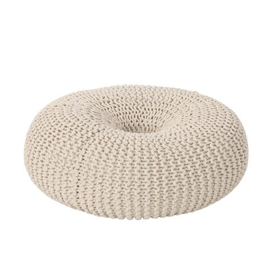 Maas Knitted Donut Pouf Upholstery: Beige