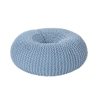 Maas Knitted Donut Pouf Upholstery: Light Blue