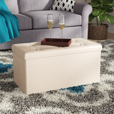 Carden Storage Ottoman Upholstery: Beige