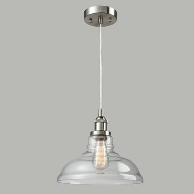 Engler 1-Light Inverted Pendant Finish: Brushed Nickel