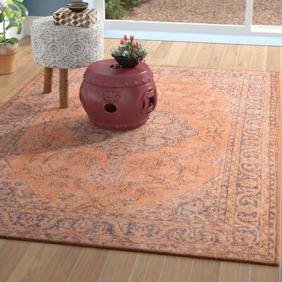 Varian Copper Area Rug Rug Size: Rectangle 76 x 96