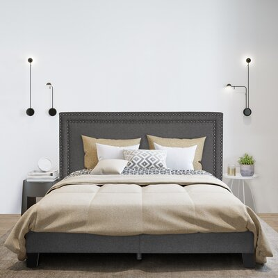 Raasch Double Row Upholstered Panel Bed Size: Queen