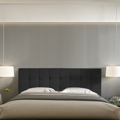Jessee Tufted Upholstered Panel Headboard Size: Queen