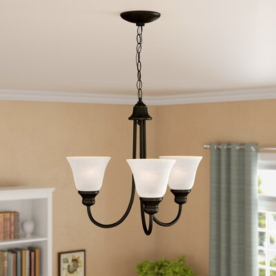Hartford 3-Light Shaded Chandelier Finish: Heirloom Bronze, Bulb Type: 100W Medium