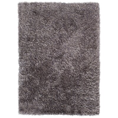 Luster Shag Charcoal Area Rug Rug Size: Rectangle 76 x 96