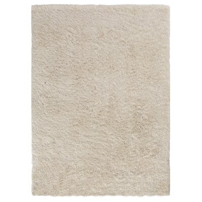 Ramhit Shag Ivory Area Rug Rug Size: Rectangle 76 x 96