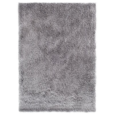 Luster Shag Silver Area Rug Rug Size: Rectangle 76 x 96