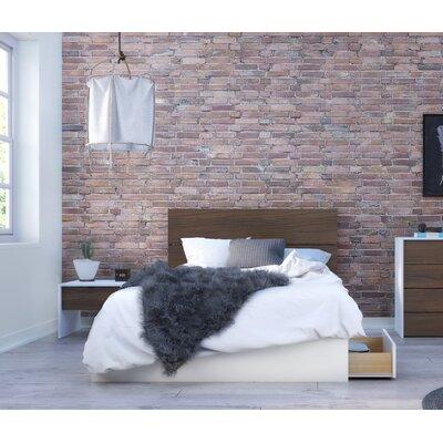 Mcintire Platform 2 Piece Bedroom Set Color: Walnut, Bed Size: Full