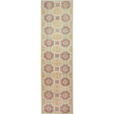 One-of-a-Kind Miliano Hand-Knotted Wool Beige Area Rug