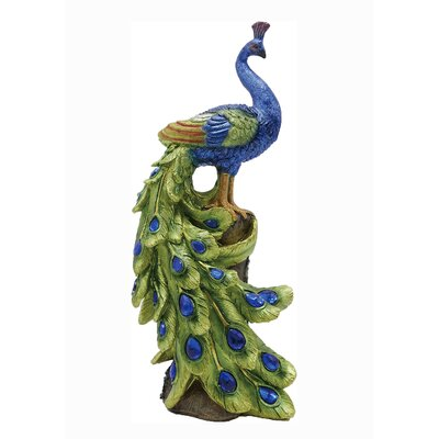 Messerly Decorative Peacock Figurine A2B7A6C8898D43278FEF47067111E8A3
