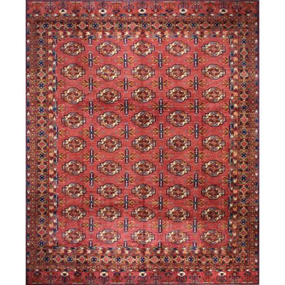One-of-a-Kind Miliano Hand-Knotted Wool Rust Area Rug