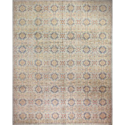 One-of-a-Kind Miliano Hand-Knotted Wool Gray Area Rug