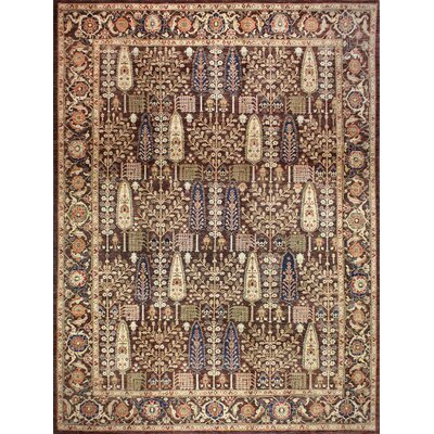 One-of-a-Kind Miliano Hand-Knotted Wool Chocolate Area Rug