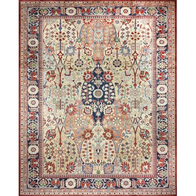 One-of-a-Kind Mclellan Hand-Knotted Wool Ivory Area Rug