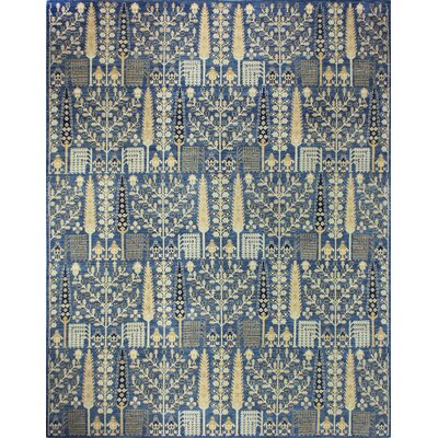 One-of-a-Kind Miliano Hand-Knotted Wool Blue Area Rug