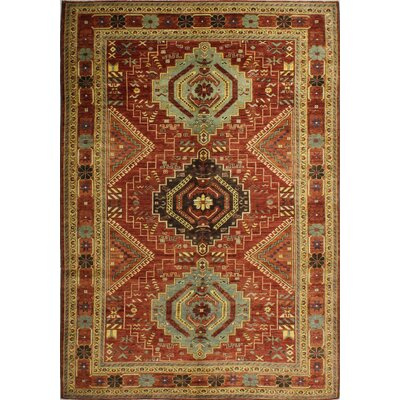 One-of-a-Kind Mcmahan Hand-Knotted Wool Rust Area Rug