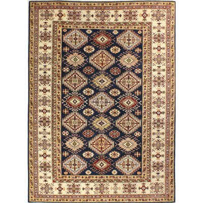 One-of-a-Kind Harrod Hand-Knotted Wool Beige Area Rug