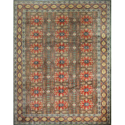 One-of-a-Kind Hartland Hand-Knotted Wool Green Area Rug