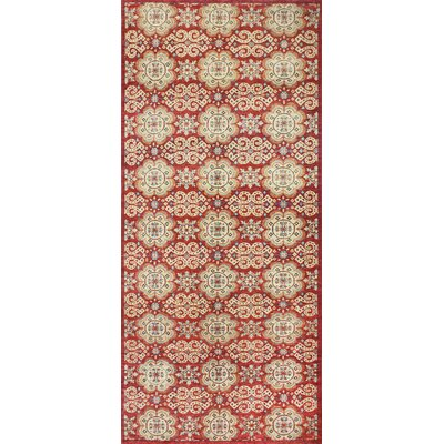 One-of-a-Kind Miliano Hand-Knotted Wool Red Area Rug