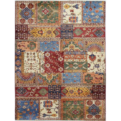 One-of-a-Kind Miliano Hand-Knotted Wool Brown/Blue Area Rug