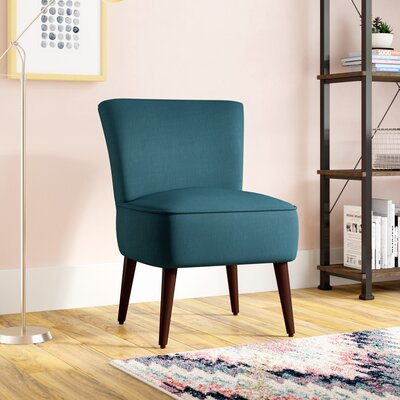 Cureton Blaylock Slipper Chair Upholstery: Peacock Blue