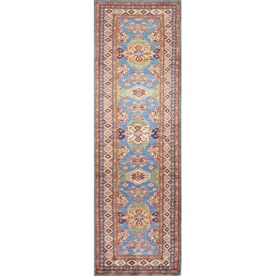One-of-a-Kind Harrod Hand-Knotted Wool Red/Light Blue Area Rug
