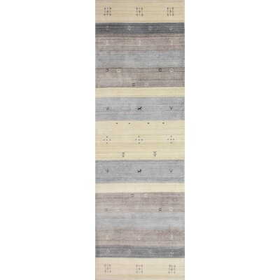 One-of-a-Kind Hartzler Hand-Knotted Wool Blue/Gray Area Rug Size: Runner 26 x 8