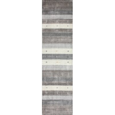 One-of-a-Kind Hartzler Hand-Knotted Wool Gray/Beige Area Rug Size: Runner 26 x 10
