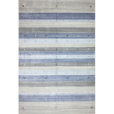 One-of-a-Kind Hartzler Hand-Knotted Wool Blue/Gray Area Rug Size: Rectangle 6 x 9