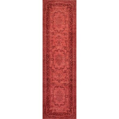 One-of-a-Kind Hartness Hand-Knotted Wool Red Area Rug