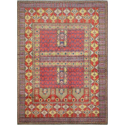 One-of-a-Kind Hartland Hand-Knotted Wool Red Area Rug