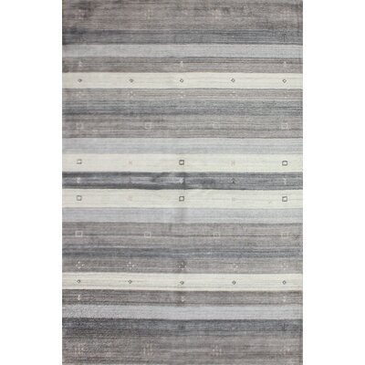 One-of-a-Kind Hartzler Hand-Knotted Wool Gray/Beige Area Rug Size: Rectangle 5 x 8