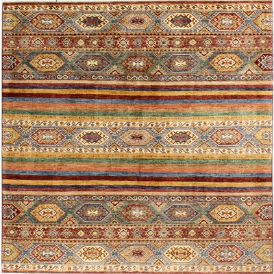 One-of-a-Kind Hartness Hand-Knotted Wool Brown Area Rug