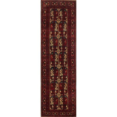 One-of-a-Kind Hartline Hand-Knotted Wool Red Area Rug