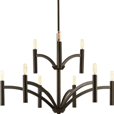 Manasi 9-Light Candle-Style Chandelier Finish: Antique Bronze