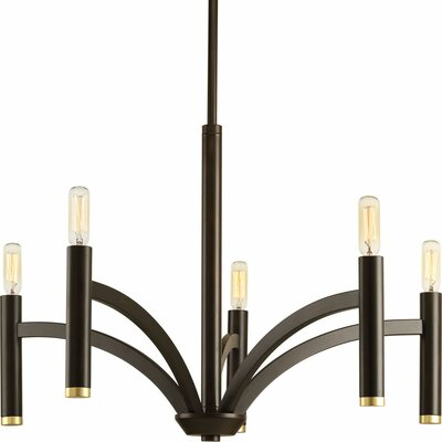 Manasi 5-Light Candle-Style Chandelier Finish: Antique Bronze