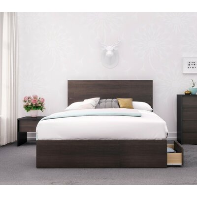 Mcintire Platform 2 Piece Bedroom Set Color: Black/Ebony, Bed Size: Queen