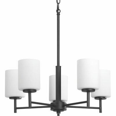 Knouse 5-Light Candle-Style Chandelier Finish: Black