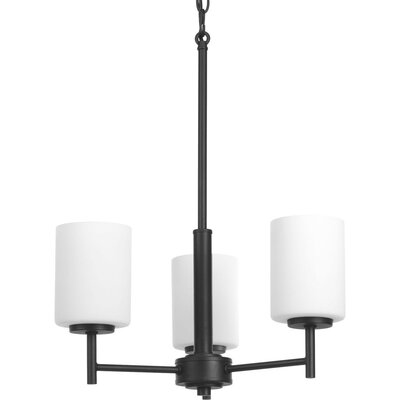 Knouse 3-Light Shaded Chandelier Finish: Black