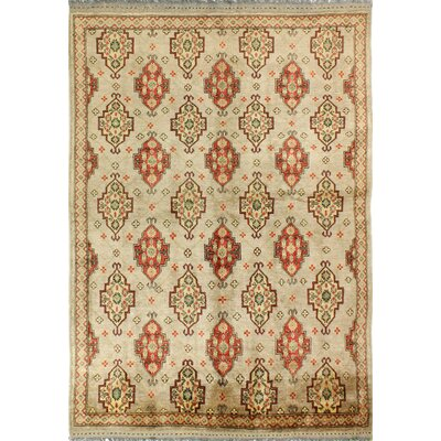 One-of-a-Kind Hartland Hand-Knotted Wool Beige Area Rug